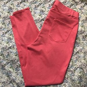 Faded Glory Coral Pink Jeggings sz L